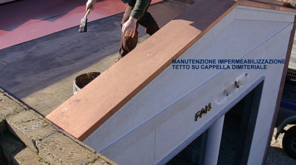 manutenzione su tetto arte cimiteriale