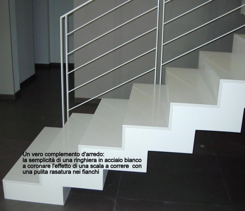 scala in agglomerato di quarzo - complemento d'arredo