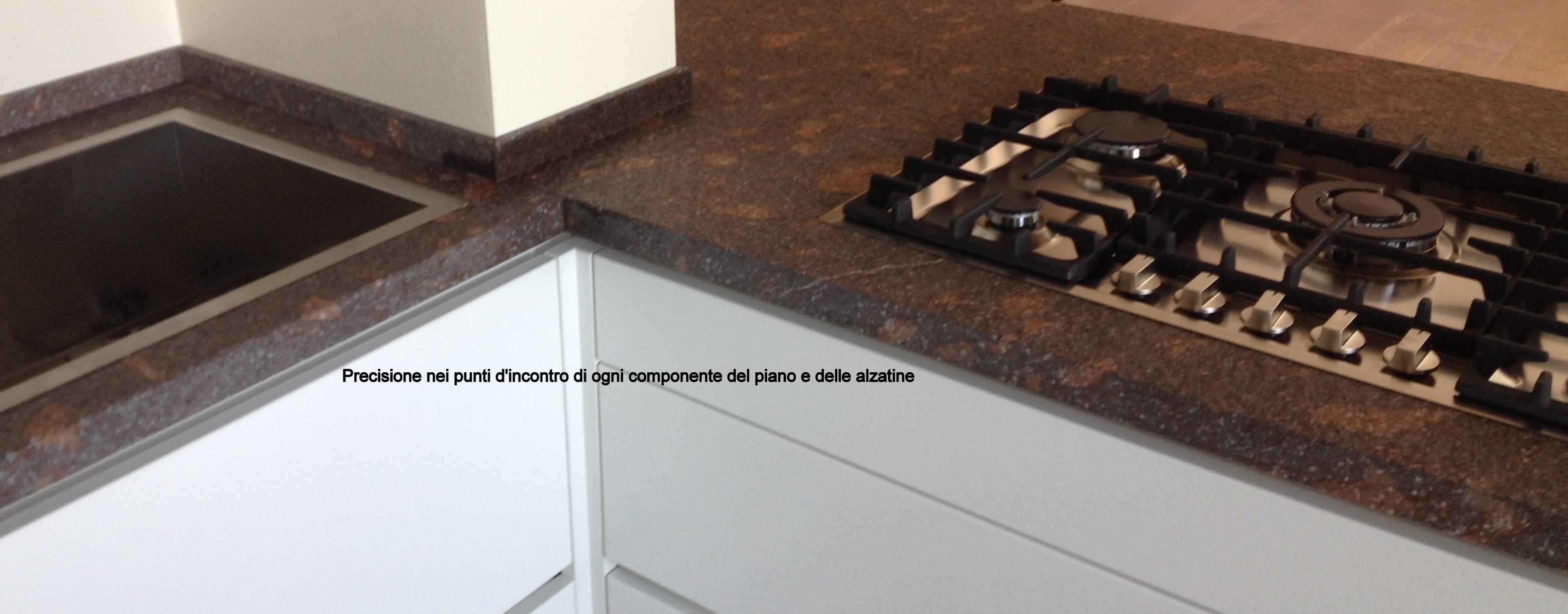 Valorizzare il top cucina lavorazioni in marmo for Top cucina granito